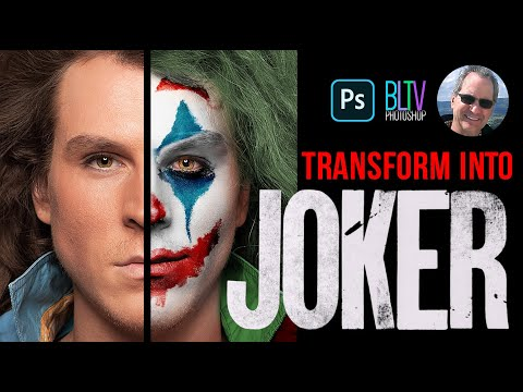 Photoshop: How To Transform A Face Into JOKER From The 2019 Movie!