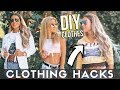 5 CLOTHING HACKS EVERY GIRL NEEDS TO KNOW! How To Upcycle Old Clothing