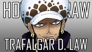 Draw Trafalgar Law One Piece - Quick Simple Easy How To Steps For Beginners 13