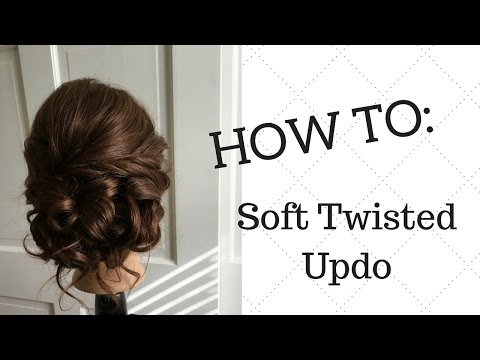 Prom Soft Twisted Updo Tutorial