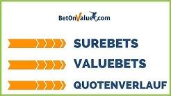 BetOnValue - Quotenverlauf, SureBets und ValueBets