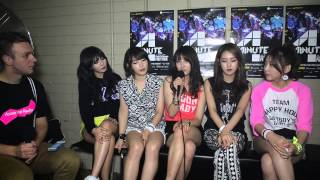4MINUTE (포미닛) Backstage Interview in Sydney, Australia (ENG SUB)
