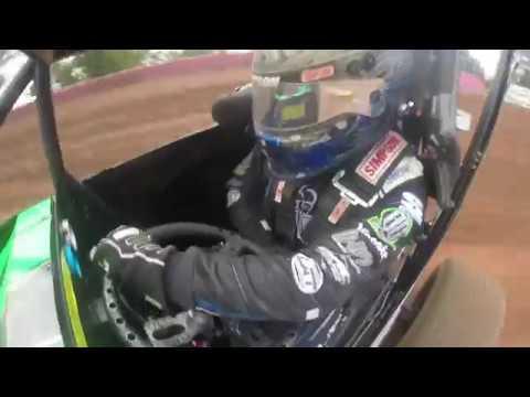 Landon Simon USAC Midget Hot Laps at Linda's Speedway