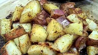 Baked, Dill, Red Bliss, Potatos 2/2 Chef John The Ghetto Gourmet
