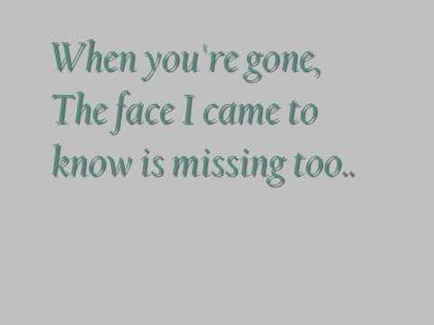 When Youre Gone Avril Lavigne Lyrics Video Youtube