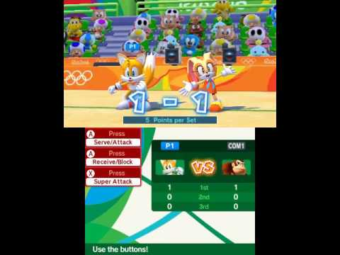 Mario & Sonic at the Rio 2016 Olympic Games (Nintendo 3DS) Playthrough Part 2