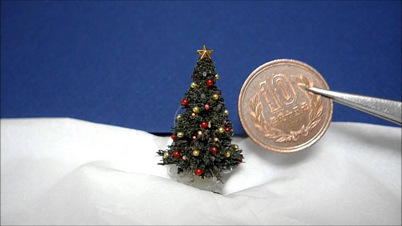 miniature christmas tree lights and decorations
