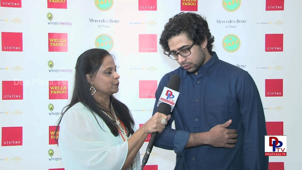 Hollywood Actor and Life of Pi movie fame Suraj Sharma speaking to DPTV  at SAFF