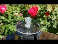 Gypsies Rings - Boho Silver Fashion Ring w Multi Color Flower Petals set in a CZ Crystal Pave