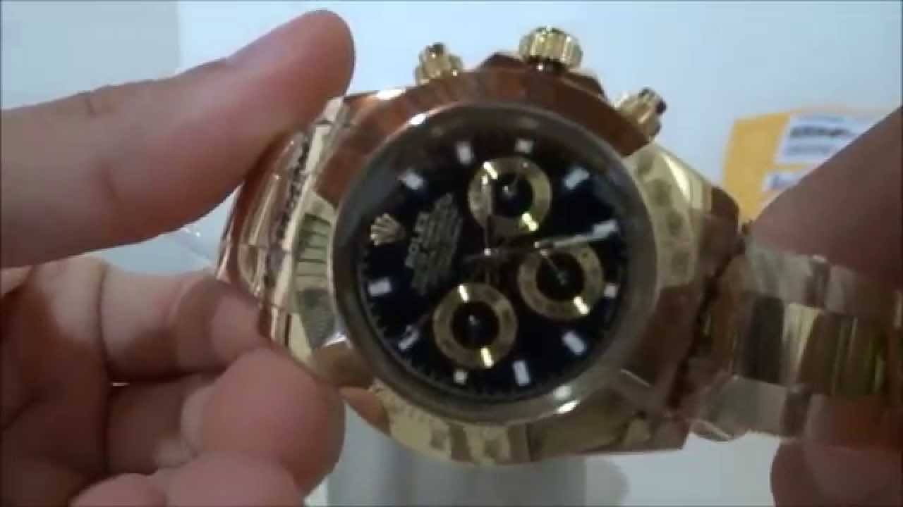 547b0ef321e Réplica do Relógio Rolex Daytona Gold - YouTube