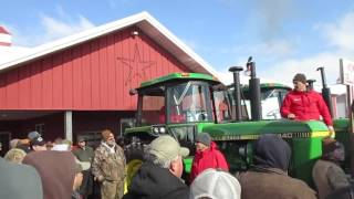 Pair of Restored John Deere 4440 Tractors Sold on Indiana Auction