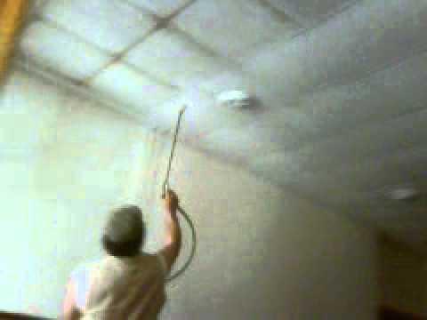 Pintando techo desmontable bastante sucio youtube - Como pintar un techo ...