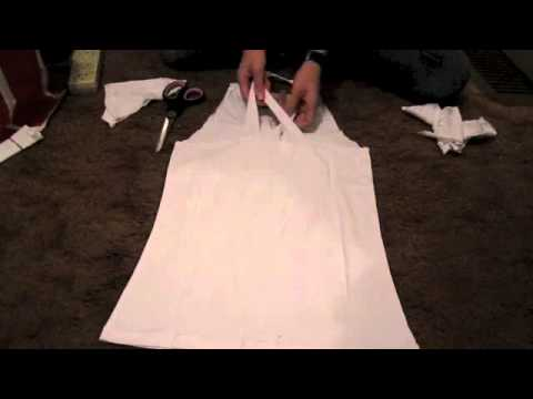 how to cut a tshirt into a singlet