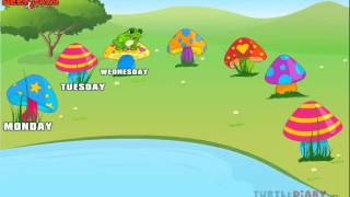 Days Of The Week - Creative Learning For Kids At Www.turtlediary.com