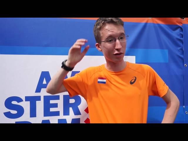 EK atletiek 2016 Amsterdam met Bart van Nunen