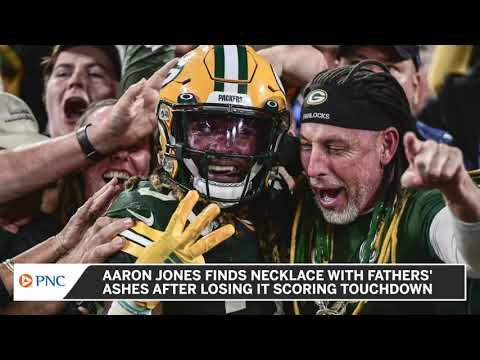 Green Bay Packers' Aaron Jones says necklace containing late ...