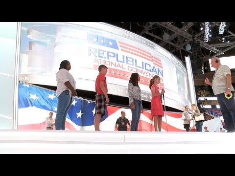 Cleveland students recite Pledge of Allegiance at RNC opening ceremonies