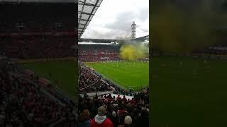 1 fc köln gegen Dynamo Dresden 8:1 Sicht aus der Elferrat Loge einfach herrlich