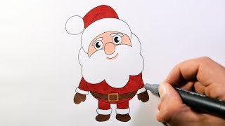 How To Draw Santa Claus - Christmas Pictures For Kids