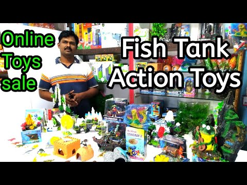 Freshwater Fish Tank Action Air Toys & Aquarium Decoration | Working Miniature Toy Fish Aquarium
