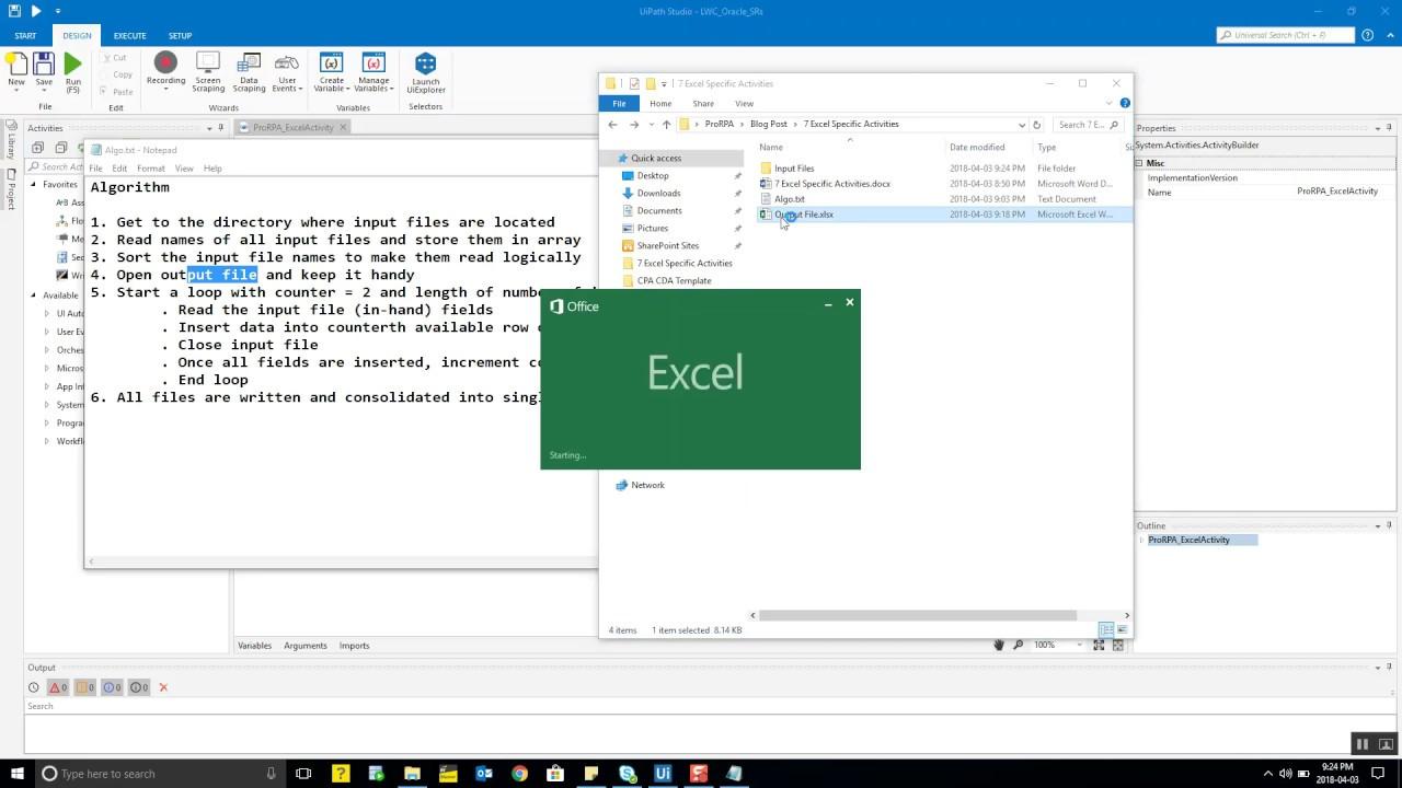 7  Excel Specific Activities – Pro-RPA