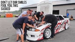 WHY IDIOTS SHOULDN'T OWN A SKYLINE - Drift Comp Fail