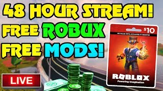🔴 48 HOUR ROBLOX/MINECRAFT LIVESTREAM!! | 3200 ROBUX GIVEAWAY!! | FREE MODS GIVEAWAY | Random Games