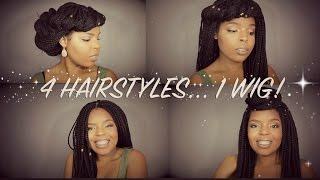 4 ways to style sensationnel box braids wig