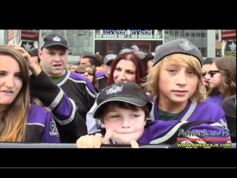 7043ccea3 Interviews with Kings fans during 2012 Stanley Cup Victory Parade on  Figueroa in downtown L.A.