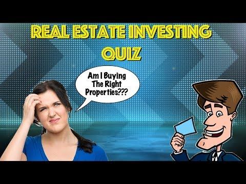Real Estate Investing Quiz - What's The RIGHT Type Of Property For You?