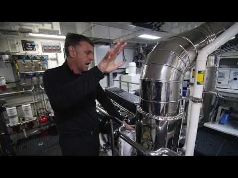Cat C32 Engine Room Tour
