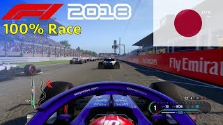 F1 2018 - 100% Race @ Suzuka Circuit, Japan in Gasly's Toro Rosso Honda