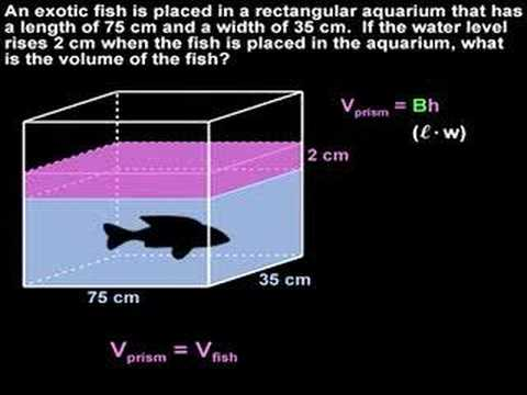 Volume word problems geometry help youtube for 10 fish are in a tank riddle answer