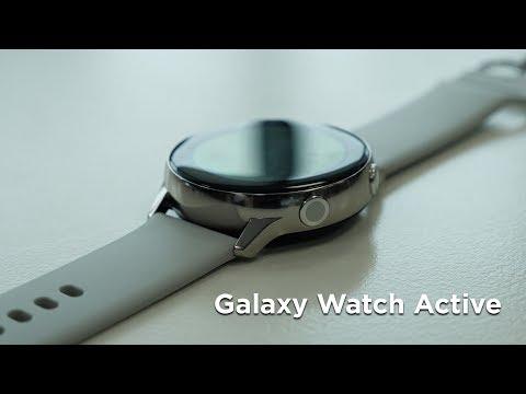 Распаковка Samsung Galaxy Watch Active / Компактные 'неубивайки'