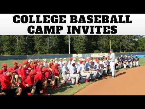 College Baseball Camp Invites