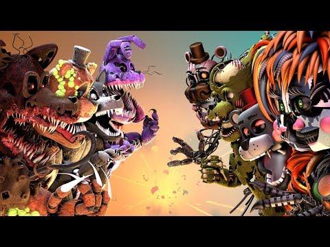 [FNaF SFM] Twisted Animatronics VS. Salvaged (Five Nights At Freddy's Animation) thumbnail