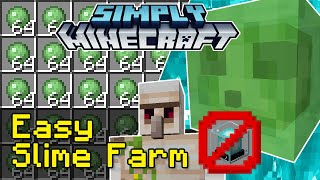 Easy Slime Farm (No Beacon Required) Tutorial | Simply Minecraft (Java Edition 1.16)