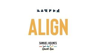 ALIGN | Super quick After Effects tutorials | SHF Quick Tips