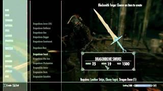 DAWNGUARD - As armas de Dragão! Dragonbone Weapons e flechas Forjáveis!