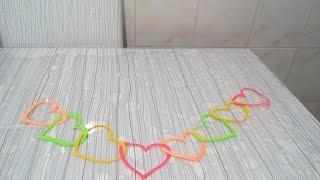 Kağıttan Kalpli Süs Yapımı - Okul Öncesi , Canım Anne