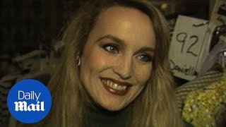 model jerry hall chats about mick jagger in footage from 1996 daily mail