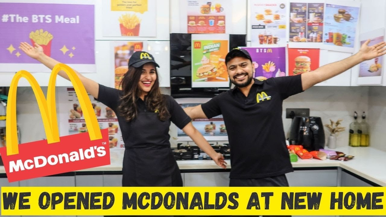 We opened a REAL McDonald's in our NEW HOME ! 🍔