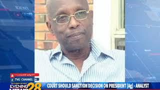 COURT SHOULD SANCTION DECISION ON PRESIDENT Ag   ANALYST 12 11 2018