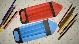 Открытка подарок на День учителя, День воспитателя, День знаний. Гигантские карандаши. Video