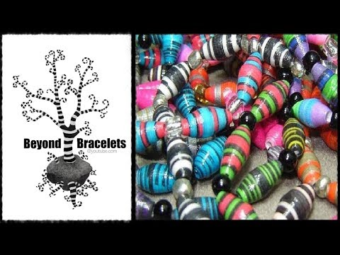 Papercraft ♻ How To Make Paper Beads - Craft Tutorial 6