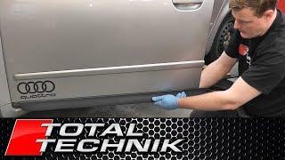How to Remove Door Blades Moulding Trim - Audi A4 S4 - B6 B7 - 2001-2008 - TOTAL TECHNIK
