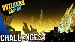 Borderlands The Pre Sequel - Outlands Canyon Challenges - Symbols, Perfect Timing, Adams, ECHOES