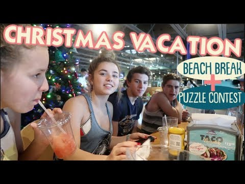 It's Christmas Vacation At The Beach + First Annual Family Puzzle Contest!