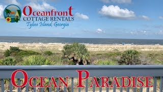 Ocean Paradise 2019 Tybee Island Beach House Tour  Oceanfront Cottage Rentals