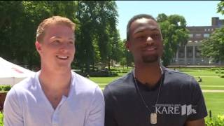 University of Minnesota track stars talk about world support after coming out